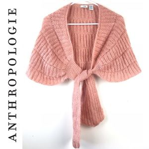 ANTHROPOLOGIE ODILLE mohair Shawl Shrug cape Scarf